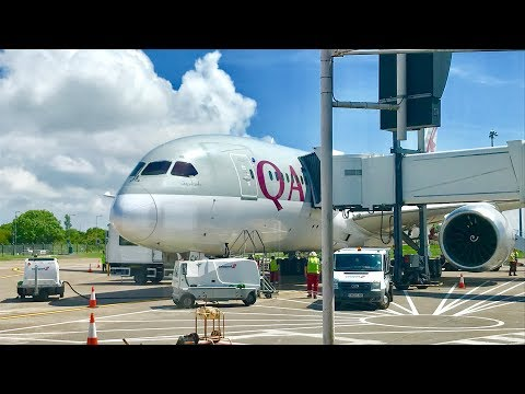 Doha to Cardiff Trip Report on Qatar Airways! | Boeing 787-8 Dreamliner