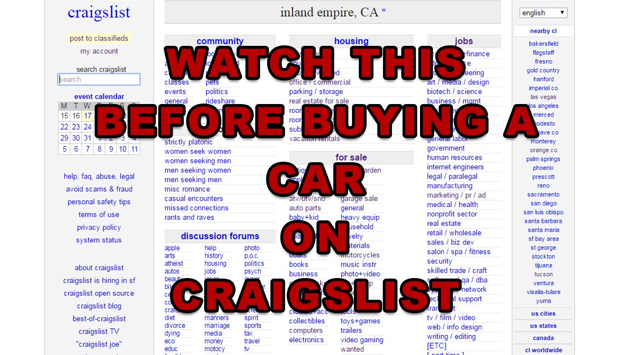 Buying a Car on Craigslist - Watch this First