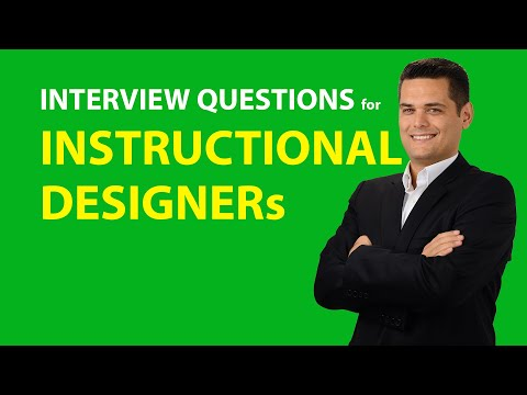 Job Interview Questions And Answers For Instructional Designers Youtube