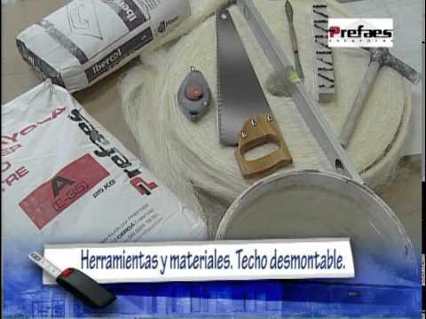 PREFAES, TECHO FIJO ESCAYOLA DESMONTABLE