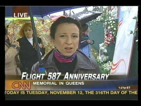 Maria Hinojosa reporting about flight 587 Anniversary