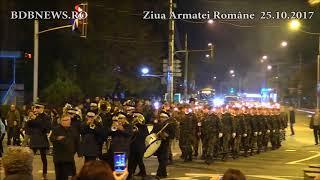 Bârlad. Retragere cu torțe de Ziua Armatei Române