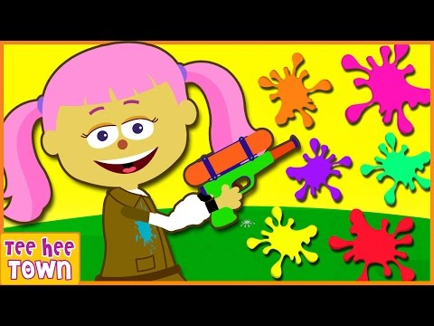 Learn Colors For Kids Finger Family Nursery Rhymes With Paintball Face Painting by Teehee Town