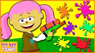 Learn Colors For Kids Finger Family Nursery Rhymes With Paintball Face Painting by Teehee Town thumbnail
