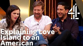 Explaining Love Island to an American - with David Schwimmer | The Lateish Show with Mo Gilligan