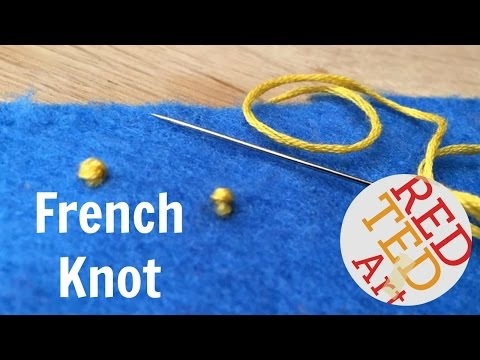 french knot youtube - 480×360