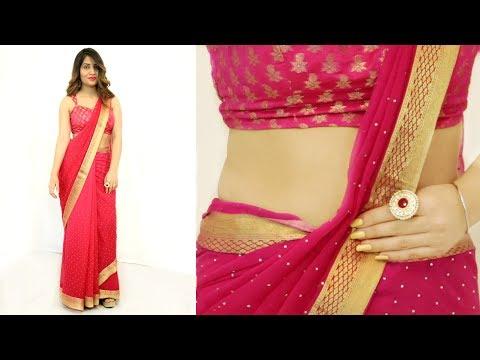2 Mins में साड़ी पहनने का सही तरीका - How To Wear Saree Perfectly   Anaysa