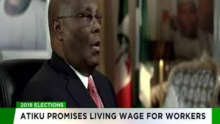 Atiku promises living wage for workers