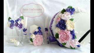 Анна Горбунова - Простой Белый цветок из зефирной глины, изюминка в букете