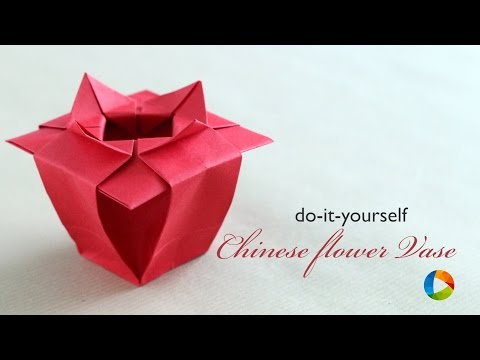How to Make : Origami Chinese Flower Vase