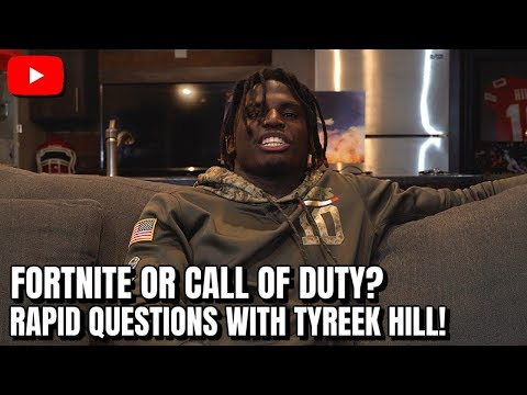 Rapid Fire Questions w/Tyreek Hill! What Super-Power Would You Have?!