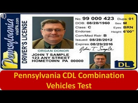 Pennsylvania CDL Combination Vehicles Test