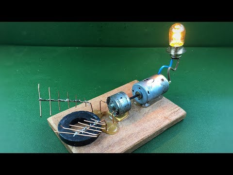 Wireless signals electricity generator , free energy device new project at home
