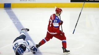 Россия - США. Чемпионат мира по хоккею 2016. Чудинов выключил Комфера