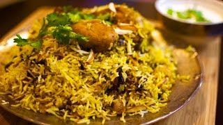 Chicken Dum Biryani Restaurant Style Recipe   Hyderabadi Chicken Dum Biryani Recipe Step by Step