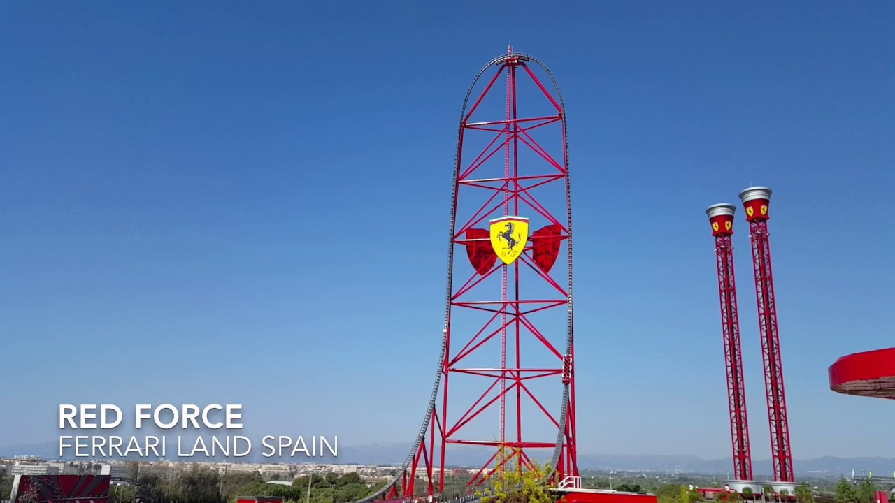 Red Force At Ferrari Land Youtube