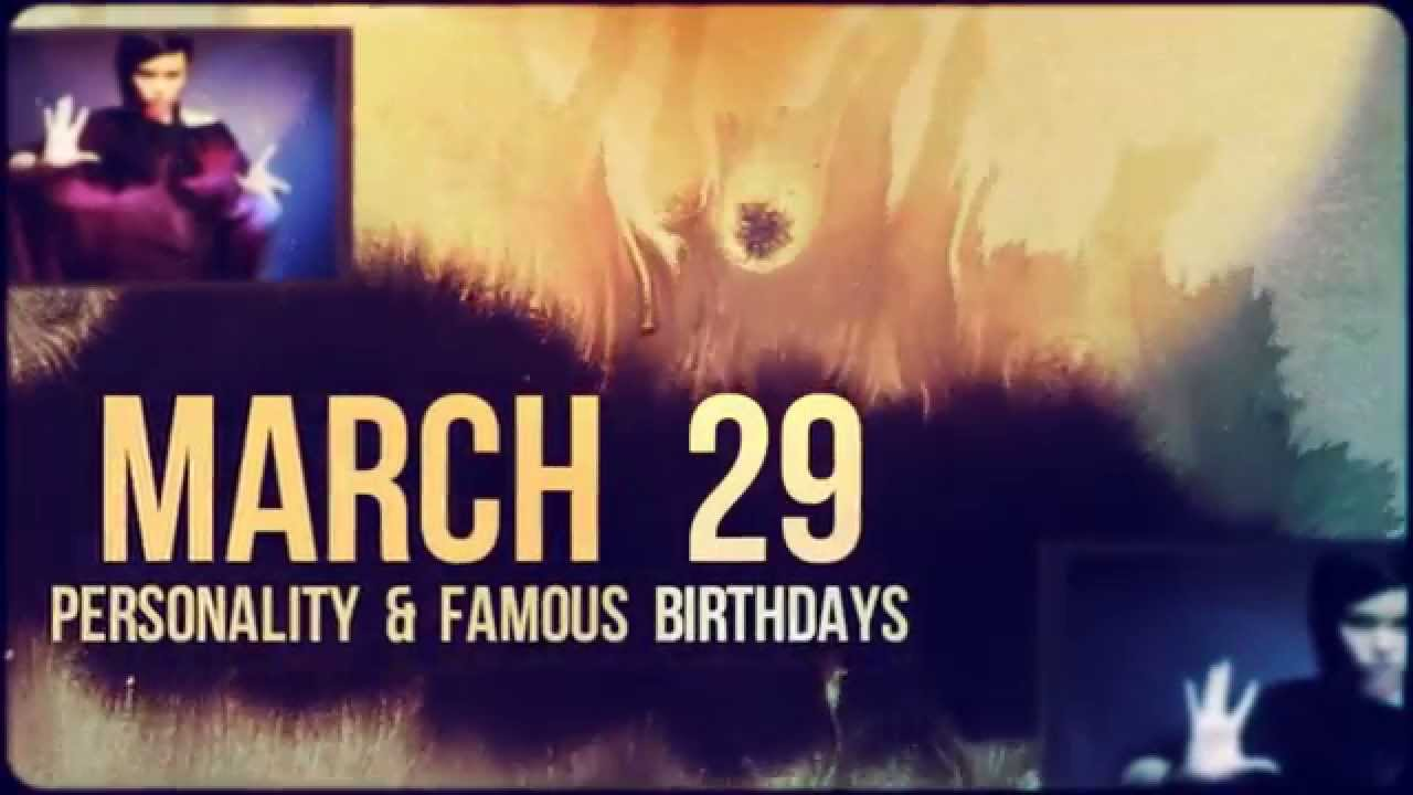 Famous People's Birthdays, March 29, United States ...