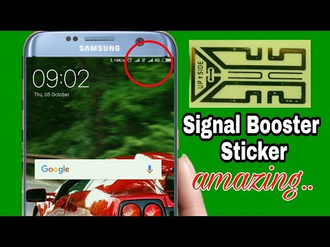 How to Boost a Cell Phone Signal Using a booster sticker