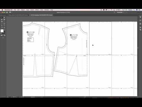 Creating PDF sewing patterns - Digital pattern making tutorial