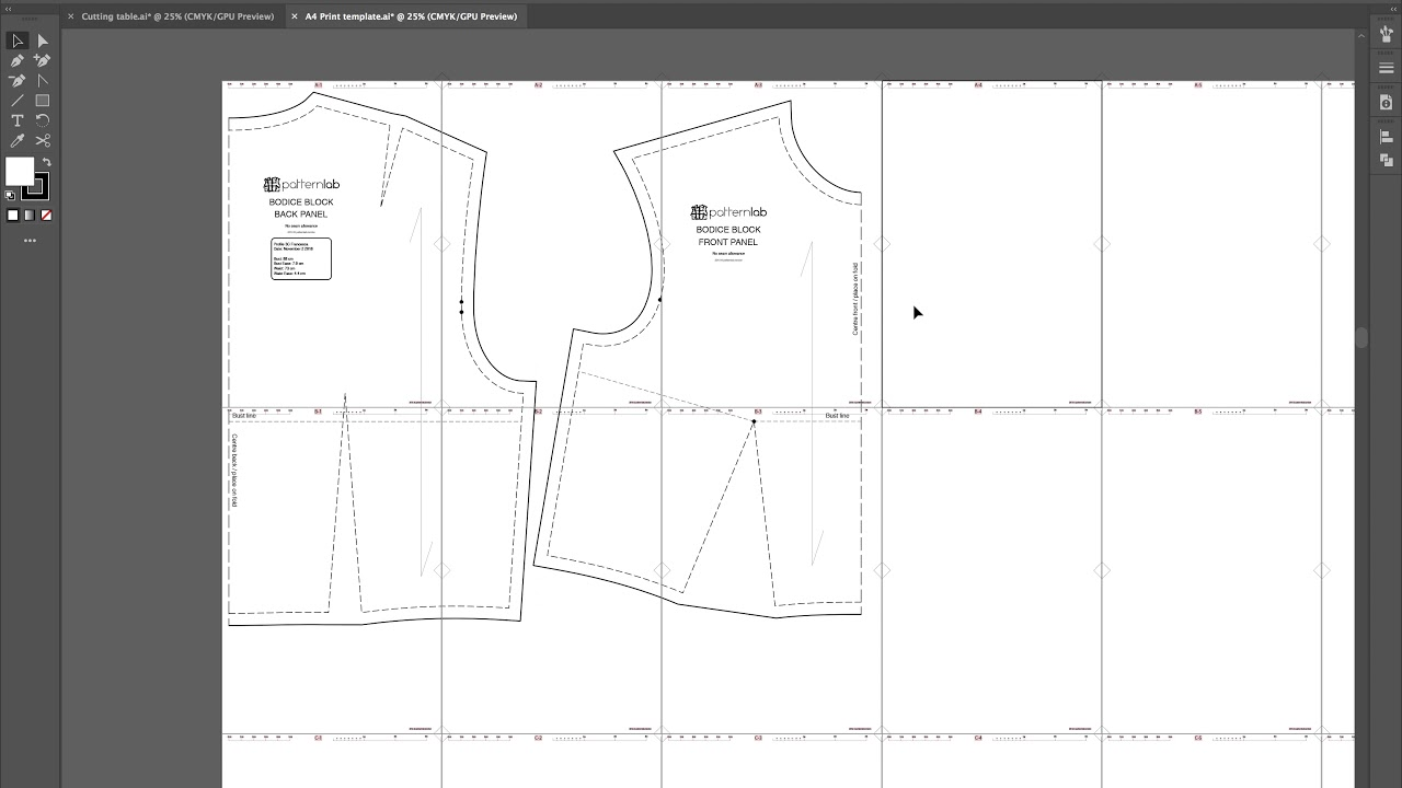 Creating Pdf Sewing Patterns Digital Pattern Making Tutorial Youtube