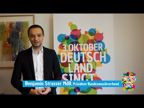 """Benjamin Strasser ist Botschafter für die Aktion """"3. Oktober - Deutschland singt"""""""