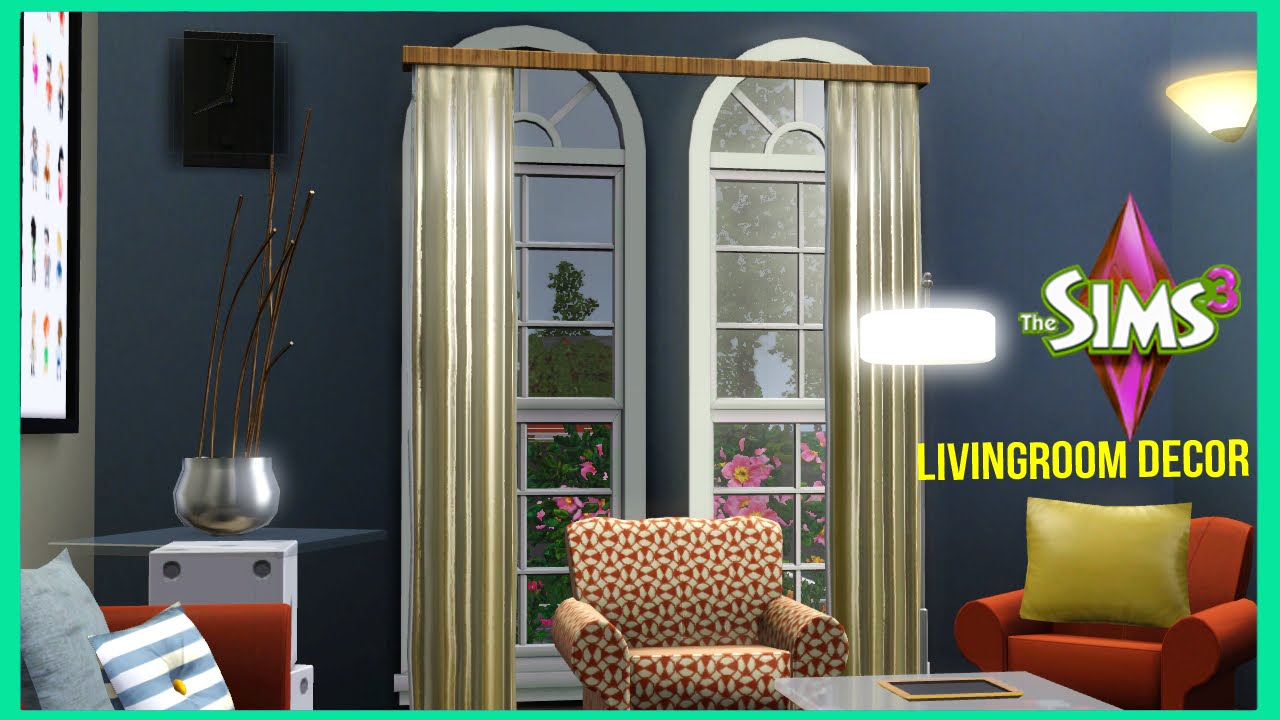 The sims 3 the baseline living room decor youtube for V a dundee living room