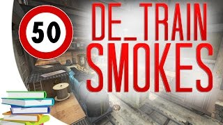 CS:GO - De_Train ALL SMOKES (50 smokes videobook)