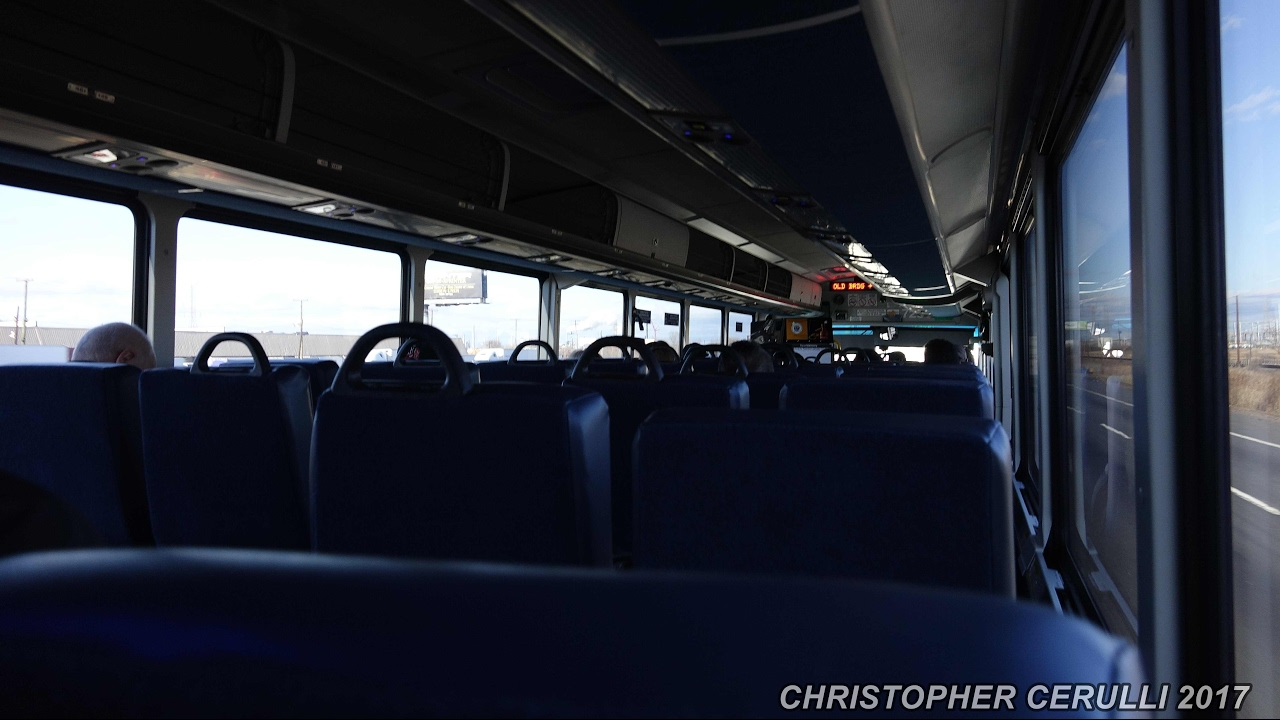 ON BOARD NJ TRANSIT BUS 7299 FROM MANALAPAN TO PORT AUTHORITY BUS TERMINAL  ON THE 139 NO TRAFFIC