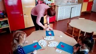 Видео - урок по нетрадиционному рисованию с детьми 3 - 4 лет