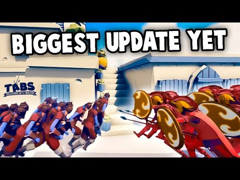 Biggest TABS Update Yet!  NEW Tactics & Units! (Totally Accurate Battle Simulator Gameplay)