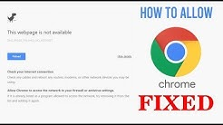 How to allow Chrome to access the network in your firewall or antivirus settings