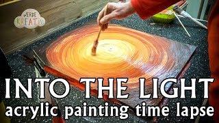 DIY - Der Tunnel ins Licht - Zeitraffer Acrylmalerei - Acryl malen lernen für Anfänger