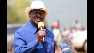 """Everyone to carry their own cross"" Raila Odinga"