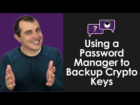 Bitcoin Q&A: Using a Password Manager to Backup Crypto Keys