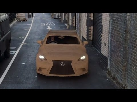 Full-Size Car Made Out of Recyclable Cardboard Drive On The Road