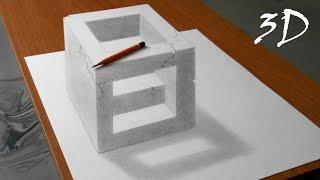 Как нарисовать простой 3д рисунок карандашом - каменный куб.(На видео показано, как карандашом нарисовать простой 3d рисунок на бумаге. Использовав материалы из видео,..., 2015-08-27T15:45:43.000Z)