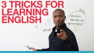 3 tricks for learning English - prepositions, vocabulary, structure(http://www.engvid.com/ Watch this lesson and learn 3 tricks to make learning English vocabulary, prepositions, and syntax easy, fun, and effective. Well, stop ..., 2013-09-13T20:04:35.000Z)