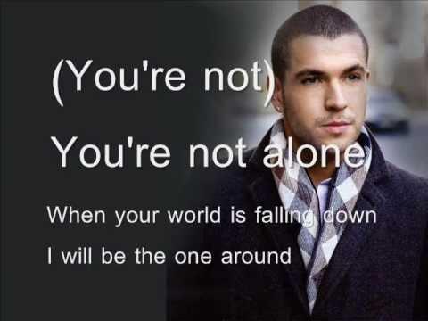 you're not alone Shayne Ward karaoke with lyrics&background singer