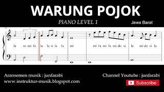 notasi balok warung pojok - piano level 1 - lagu daerah jawa barat / sunda - doremifasol