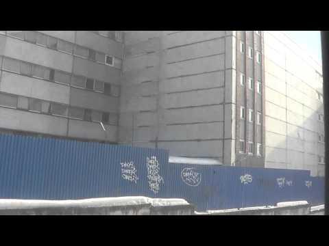 Перегон Текстильщики-Люблино из тамбура ЭМ2-032
