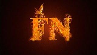 Уроки фотошоп - Огненный текст в Фотошопе CS5