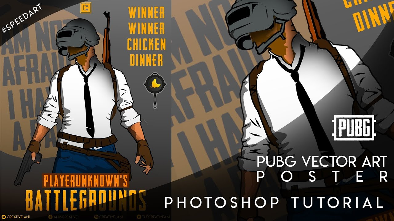 Pubg Vector Art Poster Photoshop Tutorial Youtube