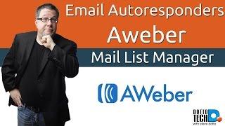 email auto responder 101 aweber