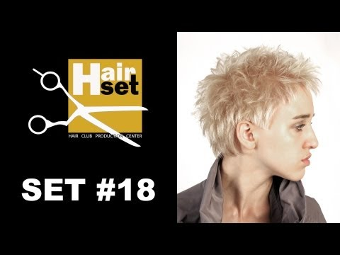 HAIR SET # 18 (креативное окрашивание, равномерная стрижка, предокраска VS пигментирование - GB, RU)