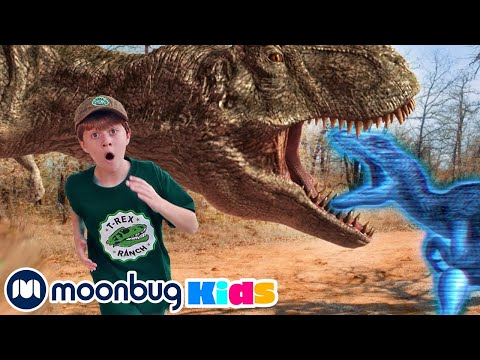 Invisible Dinosaur Hologram Mission | Jurassic Tv | Dinosaurs And Toys | T Rex Family