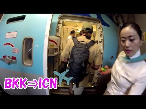 【Korean Air】KE652 Bangkok to Seoul 대한항공 大韓航空【KE】