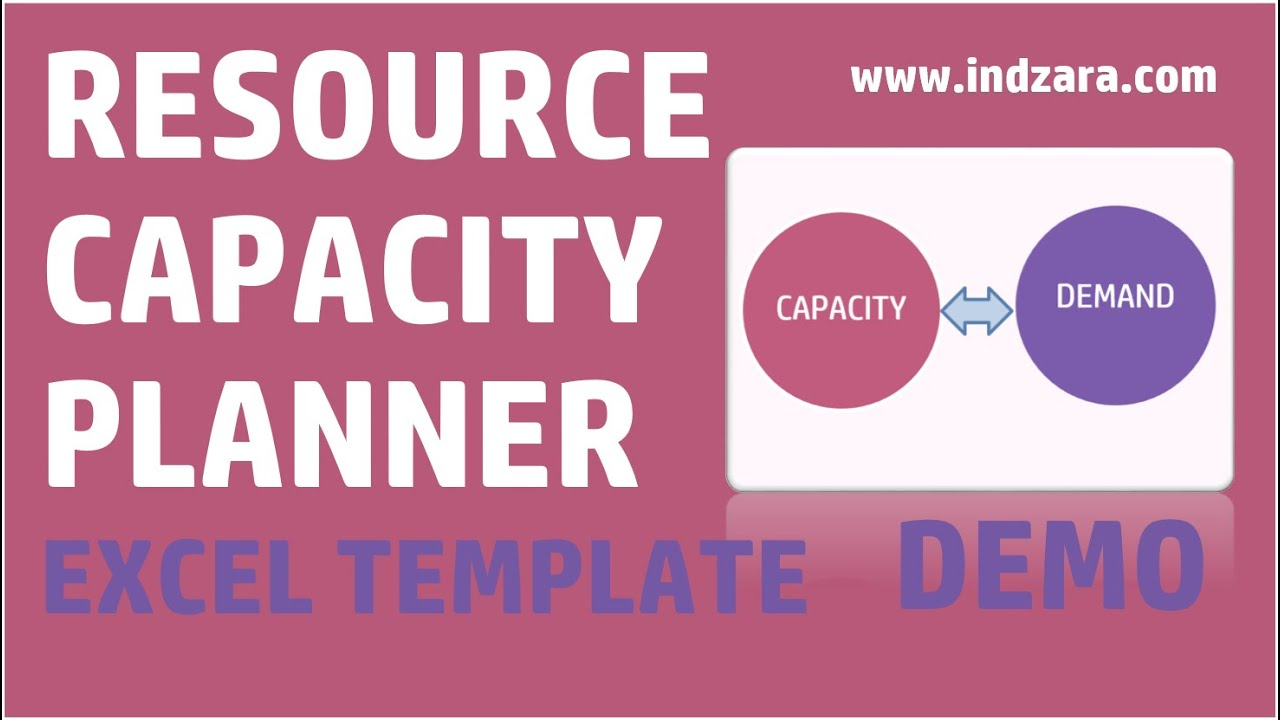 Resource Capacity Planner Excel Template V1 Demo
