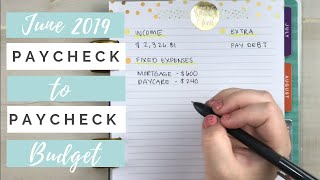 Paycheck to Paycheck Budget End of June Happy Planner Budgeting