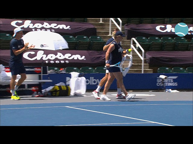 Drop shot & match point Kim Clijsters vs. Sloane Stephens 17th of July 2020 | World TeamTennis