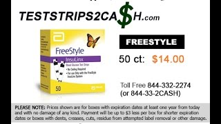 Freestyle 50ct Insulinx | Toll Free 844-332-2274 (or 844-33-2CASH)